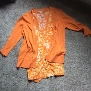 Gap tank and 3/4 sleeve lightweight cardigan set